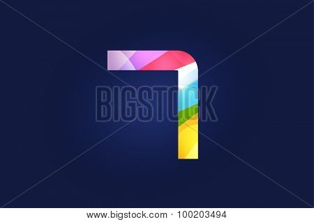 Seven 7 letter vector. Four logo icon template. Seven symbol silhouette. Seven isolated icon, Seven line style letter, Seven logotype, Seven logotype, Seven modern symbol, Seven company name brand.
