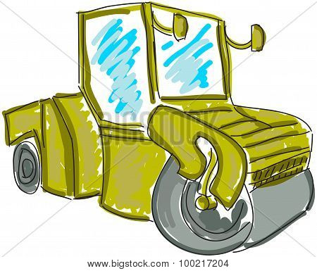 Drawn asphalt spreader
