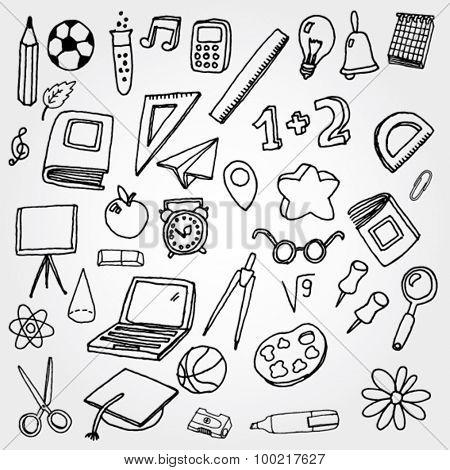 School Stuff Icons