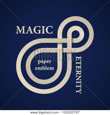 vector abstract magic eternity paper emblem
