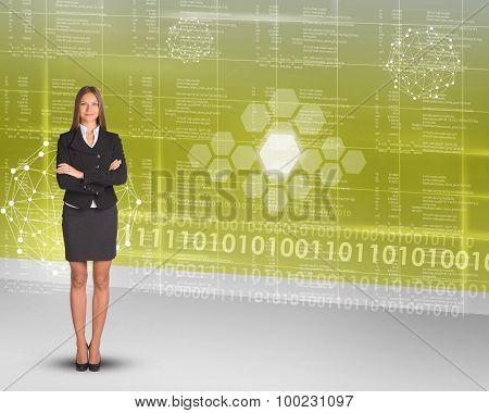 Businesslady with crossed arms