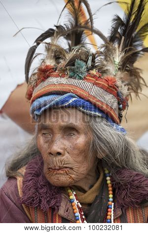 Portrait Ifugao Woman In Banaue, Philippines