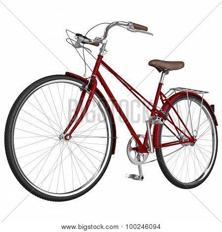 Classic bike frame. 3D graphic