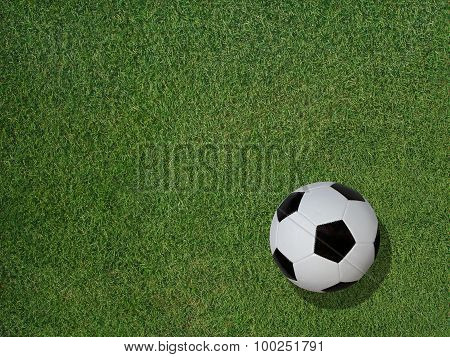 Soccer Ball On Sports Turf Grass