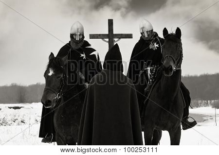 Pilgrim Blesses The Crusaders Of The Campaign