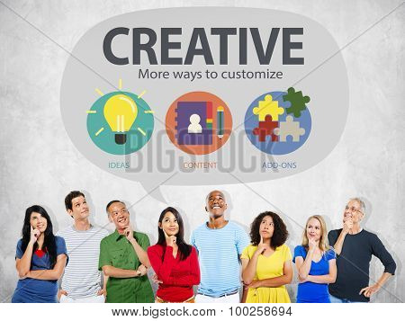 Creative Innovation Vision Inspiration Customize Concept poster