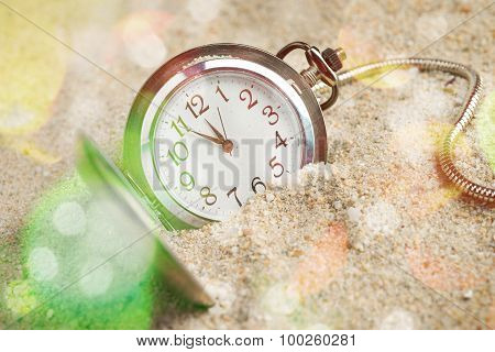 Pocket Watch in Sand