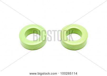 Green Ferrite Torroid Cores Of Inductor And Transformer