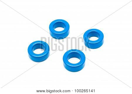 Blue Ferrite Torroid Cores Of Inductor And Transformer