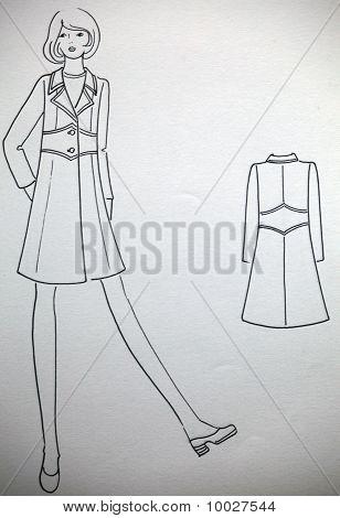 Fashion plate drawing