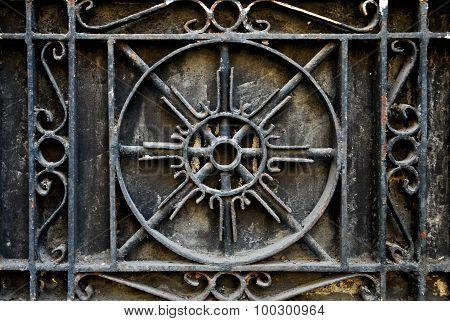Intricate Wrought Iron Metal Railing or Baluster