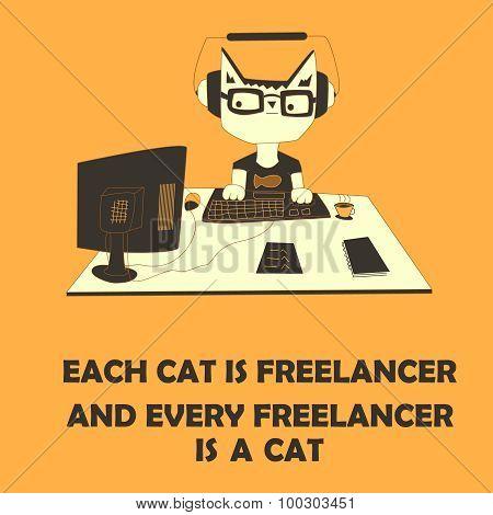 Cat freelancer