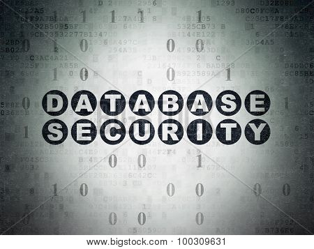 Security concept: Database Security on Digital Paper background