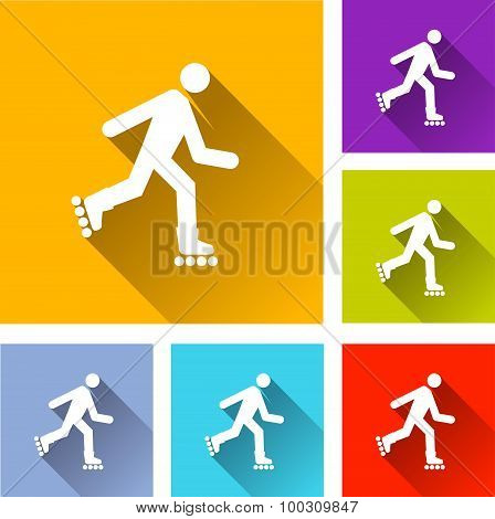 Rollerskate Icons