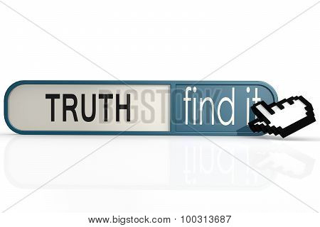 Truth Word On The Blue Find It Banner