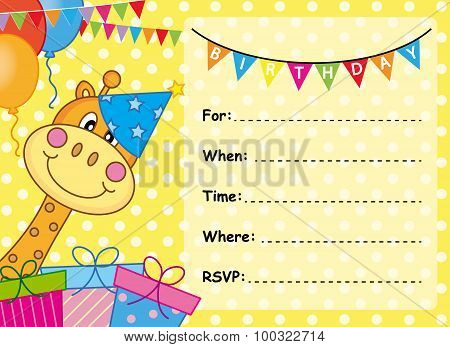 Invitation Card Birthday