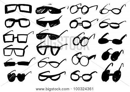 Doodle grunge glasses