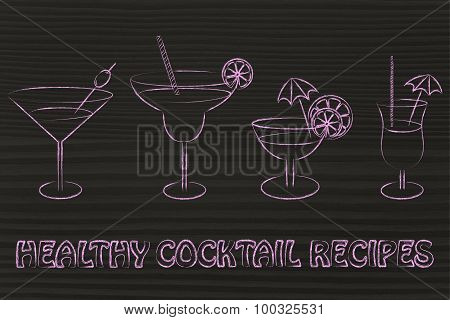 Healthy Cocktail Recipes Illustration