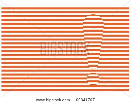 Stripes And Exclamation Mark