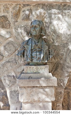 Bust Of Franz Liszt In Bratislava
