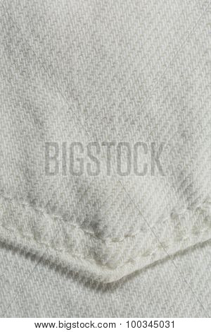 White Denim Background
