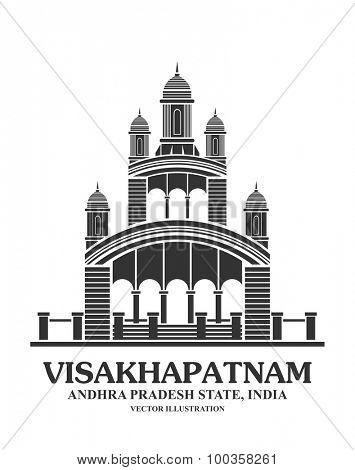An illustration of Kali temple landmark in Visakhapatnam ,India