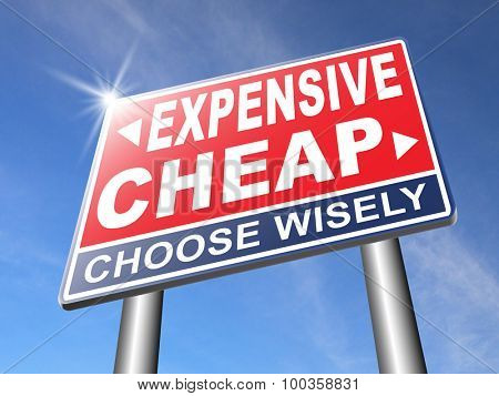 Expensive Cheap Image & Photo (Free Trial) | Bigstock