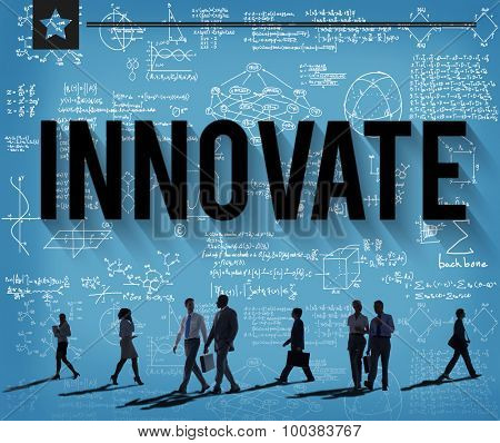 Innovate Invention Innovation Development Vision Concept poster