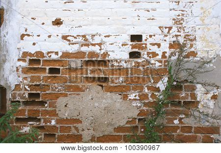beaten out bricks from the wall