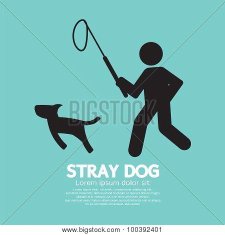 Black Symbol Stray Dog.