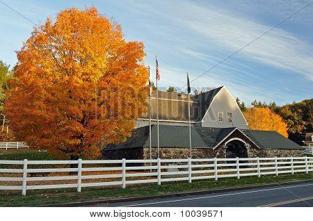 Autumn Stone  Barn