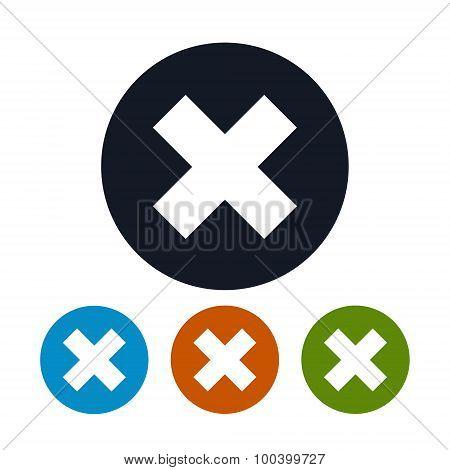 Icon Delete sign, Icon Crosswise Sign