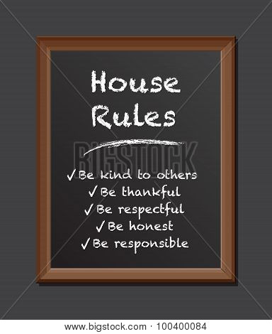 house rules chalk board