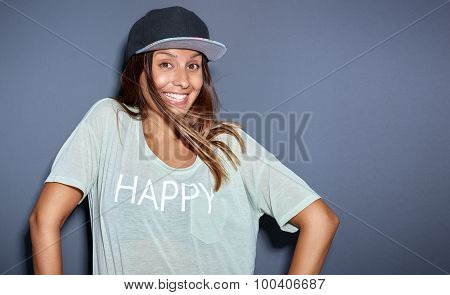 Ethnic Woman Looking Playful At Camera