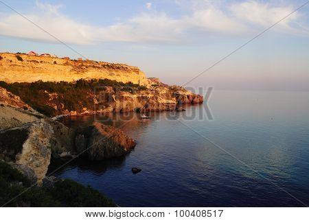 Sea coast in Crimea