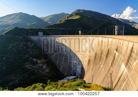 scenic view of dam on Homem river and Peneda-Geres National Park in northern Portugal.