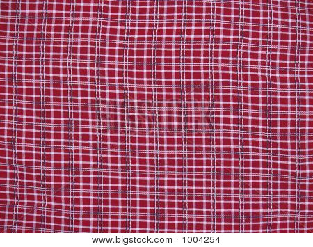 Deep Red Plaid Fabric