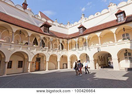 Inner Yard Of Old Town Hall In Bratislava, Slovakia