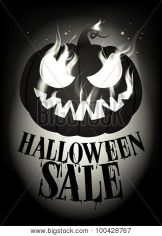 Halloween sale design. Eps10