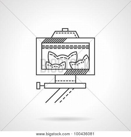 Pets selfie line vector icon