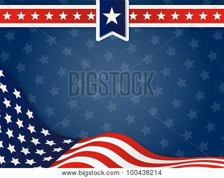 USA, United State Of America Wavy Flag Background