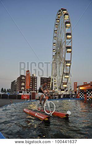 Waterbiking At The Sail
