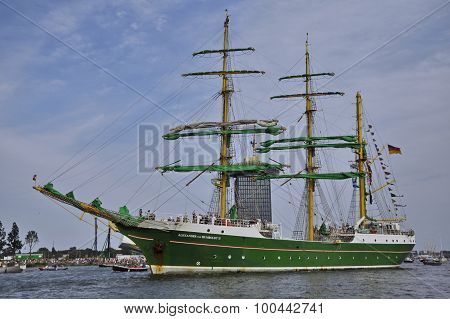 The Alexander Von Humboldt En Route From Amsterdam