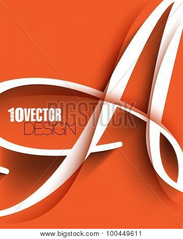vector alphabet letter A elegant advertisement cover leaflet design eps10