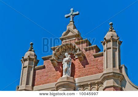 St Joseph & the baby Jesus adorn a rural church