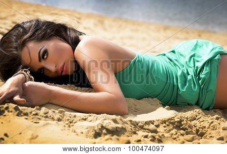 Beauty Portrait Of Sensual Woman.