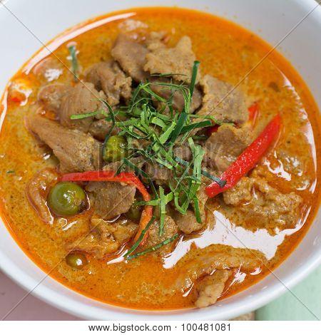 savory curry with pork (Pa Nang)