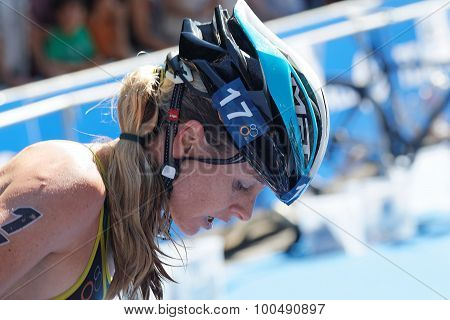 Gillian Sanders (rsa) With Helmet On