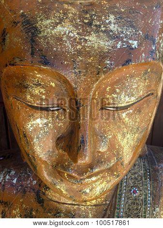 Golden Thai Buddha Closeup