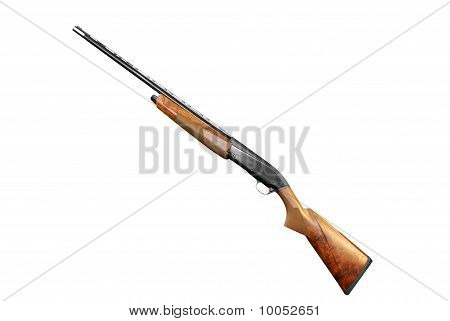rifle isolated on white